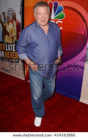 "LOS ANGELES - JUL 18:  William Shatner at the ""Better Late Than Never"" Premiere Press Screening at Universal Studios on July 18, 2016 in Universal City, CA"