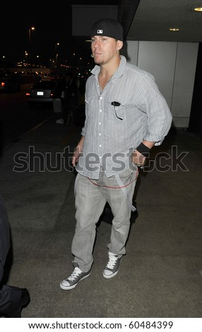 LOS ANGELES-JULY 1: Actor Channing Tatum is seen at LAX. July 1st in Los Angeles, California 2010