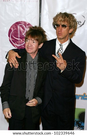 "LOS ANGELES - JULY 21: Andy Dick, Rodney Bingenheimer at ""The Assistant"" - Party for the launch of the new MTV series at Bliss on July 21, 2004 in Los Angeles, California"