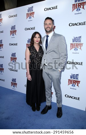 "LOS ANGELES - JUN 24:  Adam Eget at the ""Joe Dirt 2: Beautiful Loser"" Premiere at the Sony Studios on June 24, 2015 in Culver City, CA - stock photo"