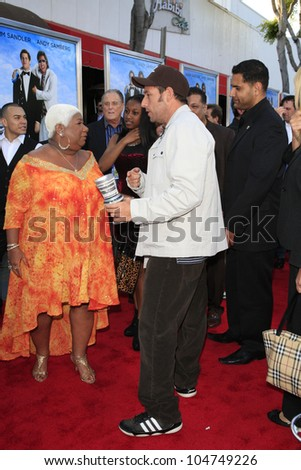 LOS  ANGELES- JUN 4: Adam Sandler, Luenell Campbell at the premiere of Columbia Pictures' 'That's My Boy' at the Regency Village Theater on June 4, 2012 in Los Angeles, California - stock photo