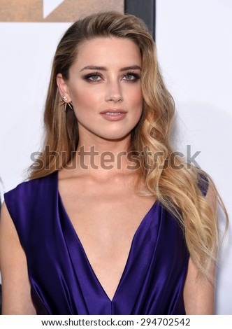 "LOS ANGELES - JUN 25:  Amber Heard arrives to the ""Magic Mike XXL"" World Premiere  on June 25, 2015 in Hollywood, CA                 - stock photo"