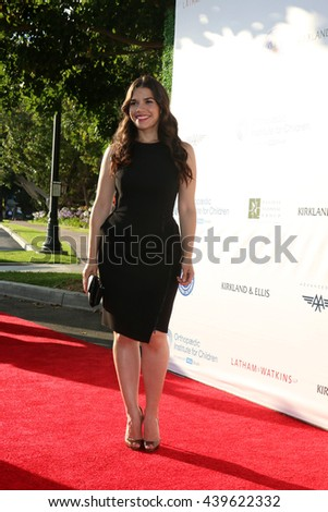 LOS ANGELES - JUN 18: America Ferrera at the Stand For Kids Gala at the Twentieth Century Fox Studios Lot on  ,  June 18, 2016 in Century City, CA - stock photo