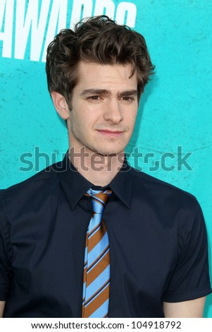 LOS ANGELES - JUN 3:  Andrew Garfield arriving at the 2012 MTV Movie Awards at Gibson Ampitheater on June 3, 2012 in Los Angeles, CA - stock photo