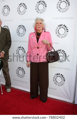 LOS ANGELES - JUN 7:  Ann Rutherford arrives at the Debbie Reynolds Hollywood Memorabilia Collection Auction & Auction Preview at Paley Center For Media on June 7, 2011 in Beverly Hills, CA - stock photo