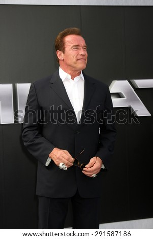 "LOS ANGELES - JUN 28:  Arnold Schwarzenegger at the ""Terminator Genisys"" Los Angeles Premiere at the Dolby Theater on June 28, 2015 in Los Angeles, CA - stock photo"