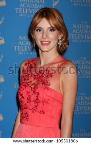 LOS ANGELES - JUN 17:  Bella Thorne arrives at the 2012 Daytime Creative Emmy Awards at Westin Bonaventure Hotel on June 17, 2012 in Los Angeles, CA