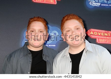 LOS ANGELES - JUN 23:  Benjamin Royer, Matthew Royer at the 100th DCOM Adventures In Babysitting LA Premiere Screening at the Directors Guild of America on June 23, 2016 in Los Angeles, CA - stock photo