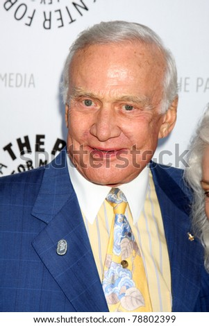 LOS ANGELES - JUN 7:  Buzz Aldrin arrives at the Debbie Reynolds Hollywood Memorabilia Collection Auction & Auction Preview at Paley Center For Media on June 7, 2011 in Beverly Hills, CA - stock photo