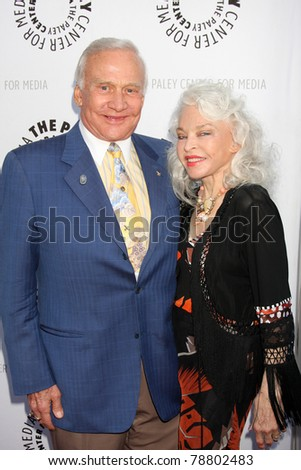 LOS ANGELES - JUN 7:  Buzz Aldrin, Lois Aldrin arrive at the Debbie Reynolds Hollywood Memorabilia Collection Auction & Auction Preview at Paley Center For Media on June 7, 2011 in Beverly Hills, CA - stock photo