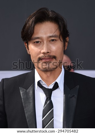 """LOS ANGELES - JUN 28:  Byung-hun Lee arrives to the """"Terminator Genisys"""" Los Angeles Premiere  on June 28, 2015 in Hollywood, CA                 - stock photo"""