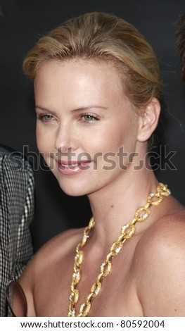 LOS ANGELES - JUN 30: Charlize Theron at the premiere of 'Hancock' in Los Angeles, California on June 30, 2008 - stock photo