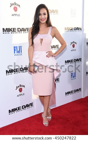 "LOS ANGELES - JUN 29:  Chloe Bridges arrives to the ""Mike & Dave Need Wedding Dates"" Los Angeles Premiere on June 29, 2016 in Hollywood, CA                 - stock photo"