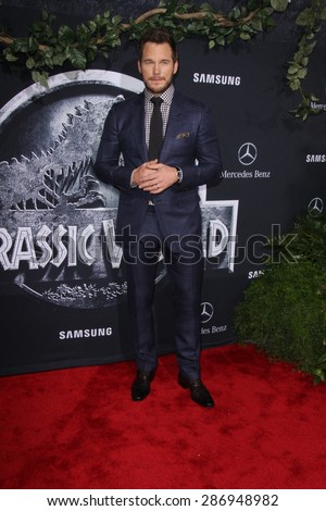 "LOS ANGELES - JUN 9:  Chris Pratt at the ""Jurassic World"" World Premiere at the Dolby Theater, Hollywood & Highland on June 9, 2015 in Los Angeles, CA  - stock photo"