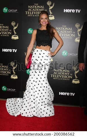 LOS ANGELES - JUN 22:  Chrishell Stause at the 2014 Daytime Emmy Awards Arrivals at the Beverly Hilton Hotel on June 22, 2014 in Beverly Hills, CA - stock photo