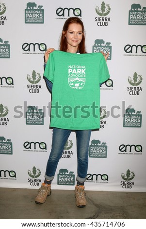 LOS ANGELES - JUN 11:  Darby Stanchfield at the Give Back Day to Celebrate National Park Service Centennial at the Franklin Canyon Park on June 11, 2016 in Beverly Hills, CA - stock photo