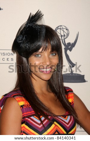 LOS ANGELES - JUN 16:  Denise Vasi arriving at the Academy of Television Arts and Sciences Daytime Emmy Nominee Reception at SLS Hotel at Beverly Hills on June 16, 2011 in Beverly Hills, CA - stock photo