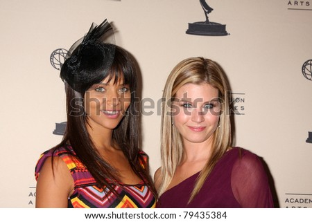 LOS ANGELES - JUN 16:  Denise Vasi, Stephanie Gatschet  arrive at the ATAS Daytime Emmy Nominee Reception at SLS Hotel at Beverly Hills on June 16, 2011 in Beverly Hills, CA - stock photo