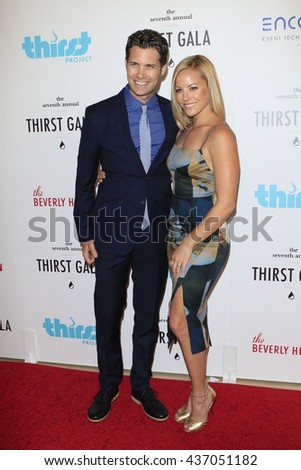 LOS ANGELES - JUN 13:  Drew Seeley, Amy Paffrath at the 7th Annual Thirst Gala at the Beverly Hilton Hotel on June 13, 2016 in Beverly Hills, CA - stock photo