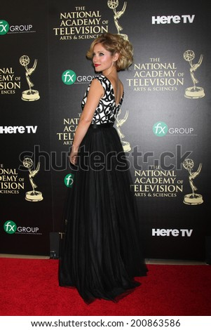 LOS ANGELES - JUN 22:  Emme Rylan at the 2014 Daytime Emmy Awards Arrivals at the Beverly Hilton Hotel on June 22, 2014 in Beverly Hills, CA - stock photo
