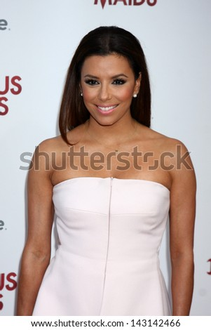"LOS ANGELES - JUN 17:  Eva Longoria arrives at the ""Devious Maids""  Lifetime's Original Series Premiere at the Bel-Air Bay Club on June 17, 2013 in Pacific Palisades, CA - stock photo"