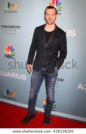 LOS ANGELES - JUN 16:  Gethin Anthony at the Aquarius Season 2 Premiere Screening Arrivals at the Paley Center For Media on June 16, 2016 in Beverly Hills, CA - stock photo