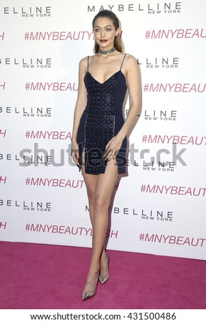 LOS ANGELES - JUN 3:  Gigi Hadid at the Maybelline New York Beauty Bash at the The Line Hotel on June 3, 2016 in Los Angeles, CA - stock photo