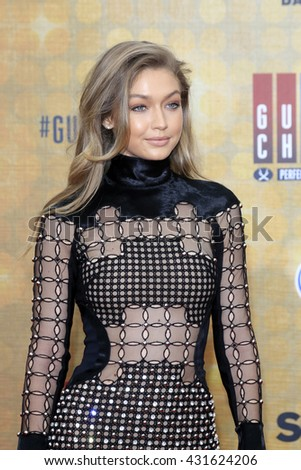 LOS ANGELES - JUN 4:  Gigi Hadid at the 10th Annual Guys Choice Awards at the Sony Pictures Studios on June 4, 2016 in Culver City, CA - stock photo