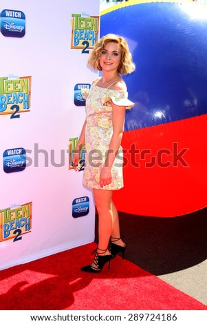 "LOS ANGELES - JUN 22:  Grace Phipps at the ""Teen Beach 2"" Premiere  at the Walt Disney Studios on June 22, 2015 in Burbank, CA - stock photo"