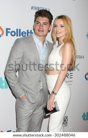 LOS ANGELES - JUN 30:  Gregg Sulkin, Bella Thorne at the 6th Annual Thirst Gala at the Beverly Hilton Hotel on June 30, 2015 in Beverly Hills, CA - stock photo