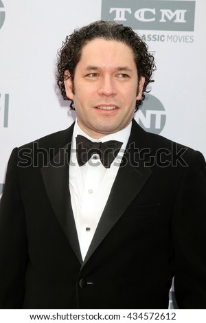 LOS ANGELES - JUN 9:  Gustavo Dudamel at the American Film Institute 44th Life Achievement Award Gala Tribute to John Williams at the Dolby Theater on June 9, 2016 in Los Angeles, CA - stock photo