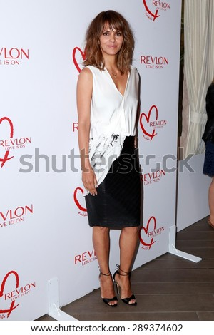 LOS ANGELES - JUN 3:  Halle Berry at the Halle Berry And Revlon Celebrate Achievements In Cancer Research at the Four Seasons Hotel on June 3, 2015 in Los Angeles, CA - stock photo