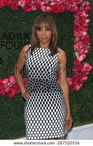LOS ANGELES - JUN 13: Holly Robinson Peete at the  LadyLike Foundation 7th Annual Women Of Excellence Scholarship Luncheon at Luxe Hotel on June 13, 2015 in Los Angeles, California. - stock photo