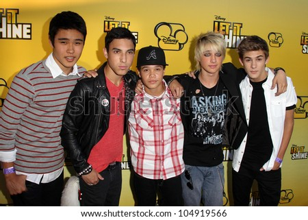 "LOS ANGELES - JUN 5:  IM5 arriving at the Premiere Of Disney Channel's .""Let It Shine"" at DGA Theater on June 5, 2012 in Los Angeles, CA"
