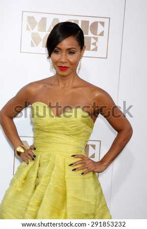"LOS ANGELES - JUN 25:  Jada Pinkett Smith at the ""Magic Mike XXL"" Premiere at the TCL Chinese Theater on June 25, 2015 in Los Angeles, CA