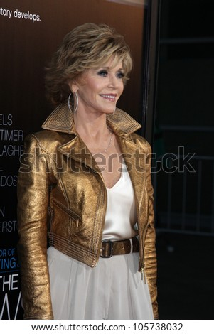 "LOS ANGELES - JUN 20:  Jane Fonda arrives at HBO's ""The Newsroom"" Los Angeles Premiere at Cinerama Dome Theater on June 20, 2012 in Los Angeles, CA"