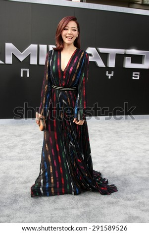 "LOS ANGELES - JUN 28:  Jane Zhang at the ""Terminator Genisys"" Los Angeles Premiere at the Dolby Theater on June 28, 2015 in Los Angeles, CA - stock photo"