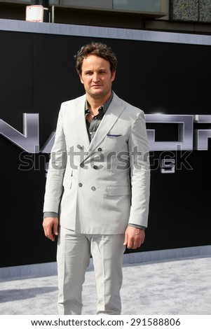 """LOS ANGELES - JUN 28:  Jason Clarke at the """"Terminator Genisys"""" Los Angeles Premiere at the Dolby Theater on June 28, 2015 in Los Angeles, CA - stock photo"""