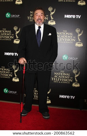 LOS ANGELES - JUN 22:  Joe Mascolo at the 2014 Daytime Emmy Awards Arrivals at the Beverly Hilton Hotel on June 22, 2014 in Beverly Hills, CA - stock photo