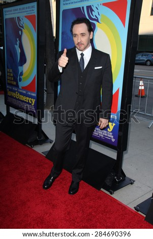 """LOS ANGELES - JUN 2:  John Cusack at the """"Love & Mercy"""" Los Angeles Premiere at the Academy of Motion Picture Arts & Sciences on June 2, 2015 in Los Angeles, CA - stock photo"""