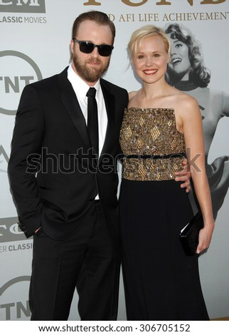 LOS ANGELES - JUN 5:  Joshua Leonard and Alison Pill arrives at the AFI TRIBUTE TO JANE FONDA   on June 5, 2014 in Hollywood, CA