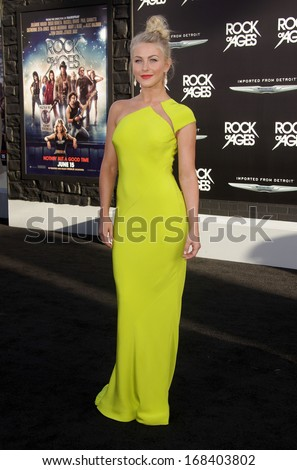 "LOS ANGELES - JUN 08:  JULIANNE HOUGH arrives to the ""Rock of Ages"" World Premiere  on June 08, 2012 in Hollywood, CA                 - stock photo"