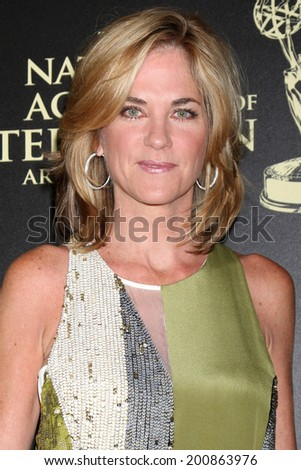 LOS ANGELES - JUN 22:  Kassie DePavia at the 2014 Daytime Emmy Awards Arrivals at the Beverly Hilton Hotel on June 22, 2014 in Beverly Hills, CA - stock photo