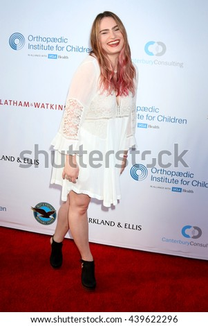 LOS ANGELES - JUN 18: Kathryn Gallagher at the Stand For Kids Gala at the Twentieth Century Fox Studios Lot on  ,  June 18, 2016 in Century City, CA - stock photo