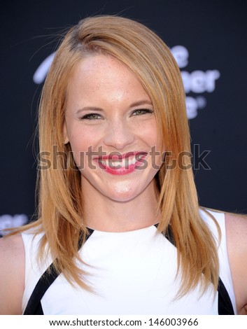LOS ANGELES - JUN 22:  Katie LeClerc arrives to the 'The Lone Ranger' Hollywood Premiere  on June 22, 2013 in Hollywood, CA                 - stock photo
