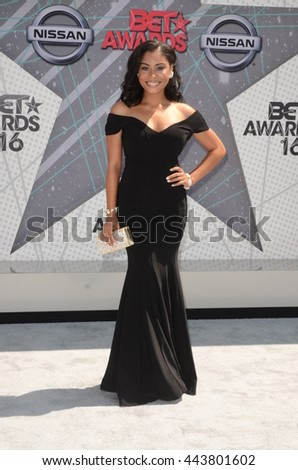 LOS ANGELES - JUN 26:  Katlynn Simone at the BET Awards Arrivals at the Microsoft Theater on June 26, 2016 in Los Angeles, CA - stock photo