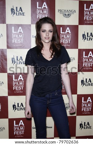 LOS ANGELES - JUN 21: Kristen Stewart  at 'A Better Life' World Premiere Gala Screening at the 2011 Los Angeles Film Festival at Regal Cinemas L.A. LIVE in Los Angeles, California on June 21, 2011 - stock photo