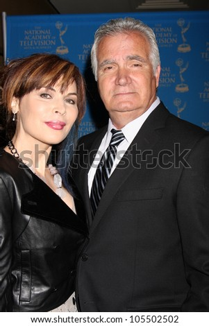 LOS ANGELES - JUN 17:  Lauren Koslow, John McCook arrives at the 2012 Daytime Creative Emmy Awards at Westin Bonaventure Hotel on June 17, 2012 in Los Angeles, CA