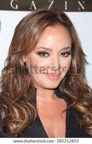 LOS ANGELES - JUN 2:  Leah Remini at the VIVA GLAM Celebrity Issue Launch Hosted by Leah Remini at the Riviera 31 Bar & Lounge on June 2, 2015 in Los Angeles, CA - stock photo