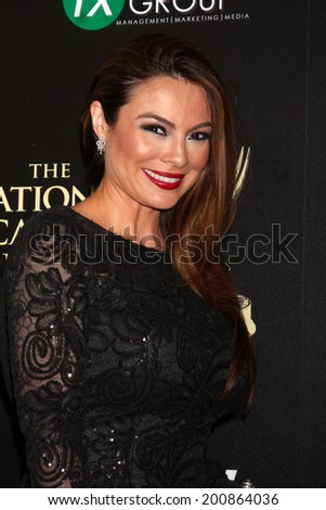 LOS ANGELES - JUN 22:  Lilly Melgar at the 2014 Daytime Emmy Awards Arrivals at the Beverly Hilton Hotel on June 22, 2014 in Beverly Hills, CA - stock photo